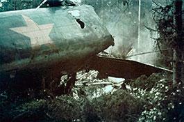 Упавший самолет А.И.Панфилова.